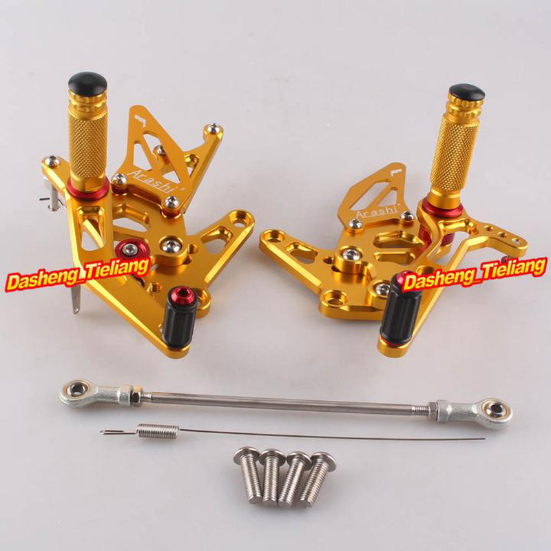 Motorcycle Adjustable Rear Set Footrests Foot Pegs Assembly For Suzuki Hayabusa GSX1300R 1999 2007 Pair Spare Parts