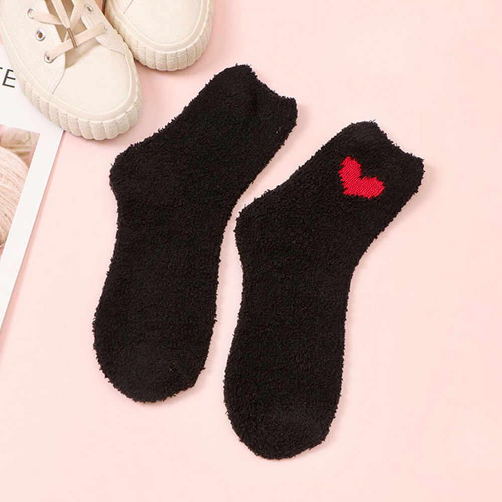 最新の女性の綿の靴下厚い抗スリップサンゴフリース · フロアソックス防湿冬暖かいカーペット靴下人気のスタイル Meias