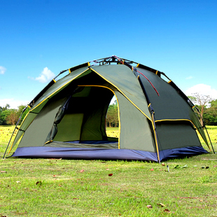 Free Shipping 3-4 people more than double automatic tents outdoor quick-opening tent : tents and more - memphite.com