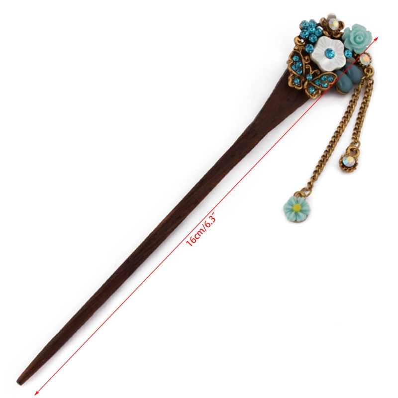 Retro Traditional Wooden Hairpin 4