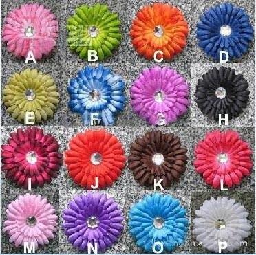 480 шт., 4 дюйма, детский Хрустальный цветок для волос, заколка для волос, 4 дюйма, заколки для волос Gerbera