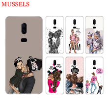 Baby Mom Girls Phone Back Case for OnePlus 7 Pro 6 6T 5 5T 3 3T 7Pro Art Gift Patterned Customized Cases Cover Coque Capa Shell