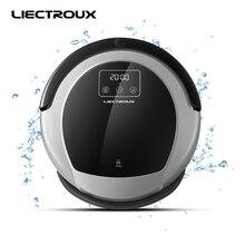 LIECTROUX Roboter-staubsauger B6009, 2D Karte & Gyroskop Navigation mit Speicher, Niedrigen Wiederholung, Virtuelle Blocker, Uv-lampe, Wassertank