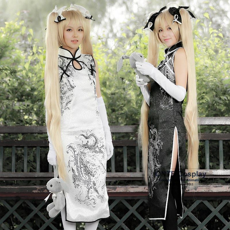 5 in 1 set Yosuga no Sora Cosplay Kasugano Sora costumes Anime In solitude, where we are least alone Women Cheongsam
