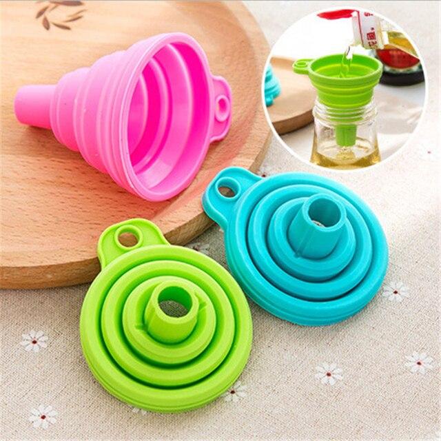 CHASANWAN1pcs Mini Silicone pliable entonnoir trémie Cuisine Cozinha outils de Cuisine Cuisine accessoires de Cuisine Gadgets de Cuisine 1