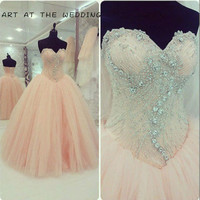 Hot Sale Luxury Shiny Gorgeous Sweetheart Ball Gown Quinceanera Dresses Vestidos De Novia Anos Debutante Gowns Sweet Years