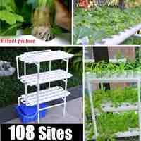 112 teil/satz 108 Loch Anlage Hydrokultur-system Wachsen Kit Kindergarten Töpfe Anti Pest Soilless Anbau Indoor Garten Kultur Anlage 220 V