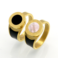 2017 New Fashion Fine Jewelry Resin And Shell Brand Roman Numerals Rings Bridal Wedding Engagement Ring For Women Gift Jewelry