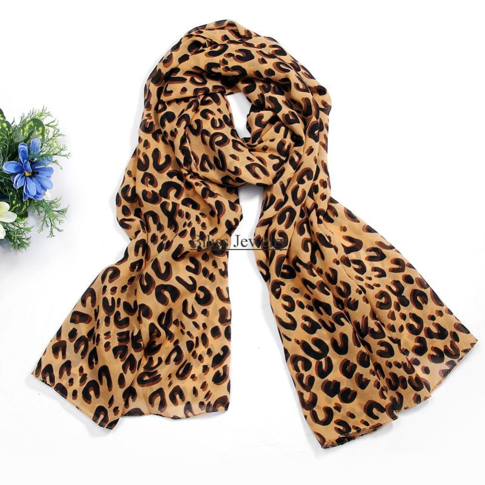 Best Gift For Ladies Part - 33: Fashion Womenu0027s Scarves Chiffon Leopard Pattern Mocha Shawl Print Scarf  Evening Wraps Best Gift For Ladies ...