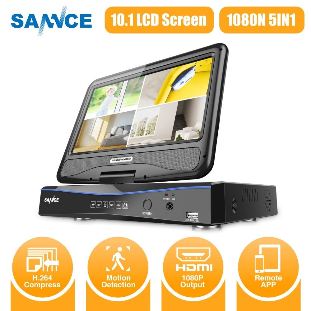Sannce 8CH DVR NTSC 1080 P 5 en 1 200 W 10.1 pouces LCD 8 intégré BNC AHD TVI CVI CVBS système de sécurité CCTV caméra IP Onvif H.264