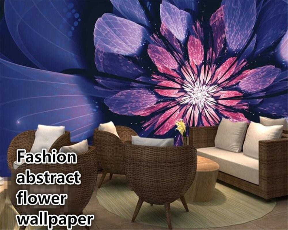 Beibehang Wallpaper Wall 3d Modern Fantasy Blue Butterfly Abstract