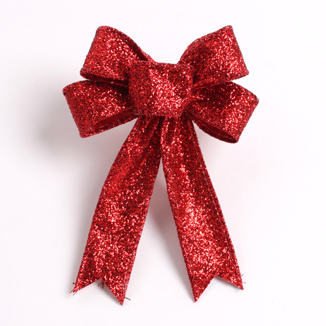 23cm large red christmas bow for christmas gifts and decorations new bowknot for tree wreath ornaments in christmas bows from home garden on - Red Christmas Bows