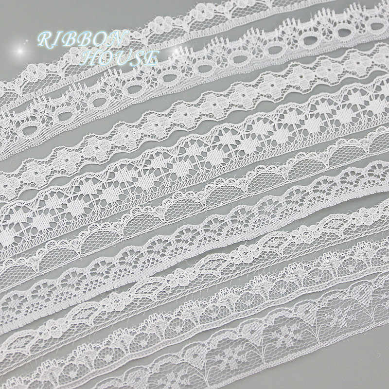 (5 yards/roll) white lace fabric Webbing Decoration packing Material