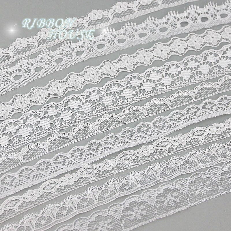 (5 ярдов/рулон) белая кружевная ткань, тонкая лента для украшения, упаковочный материал