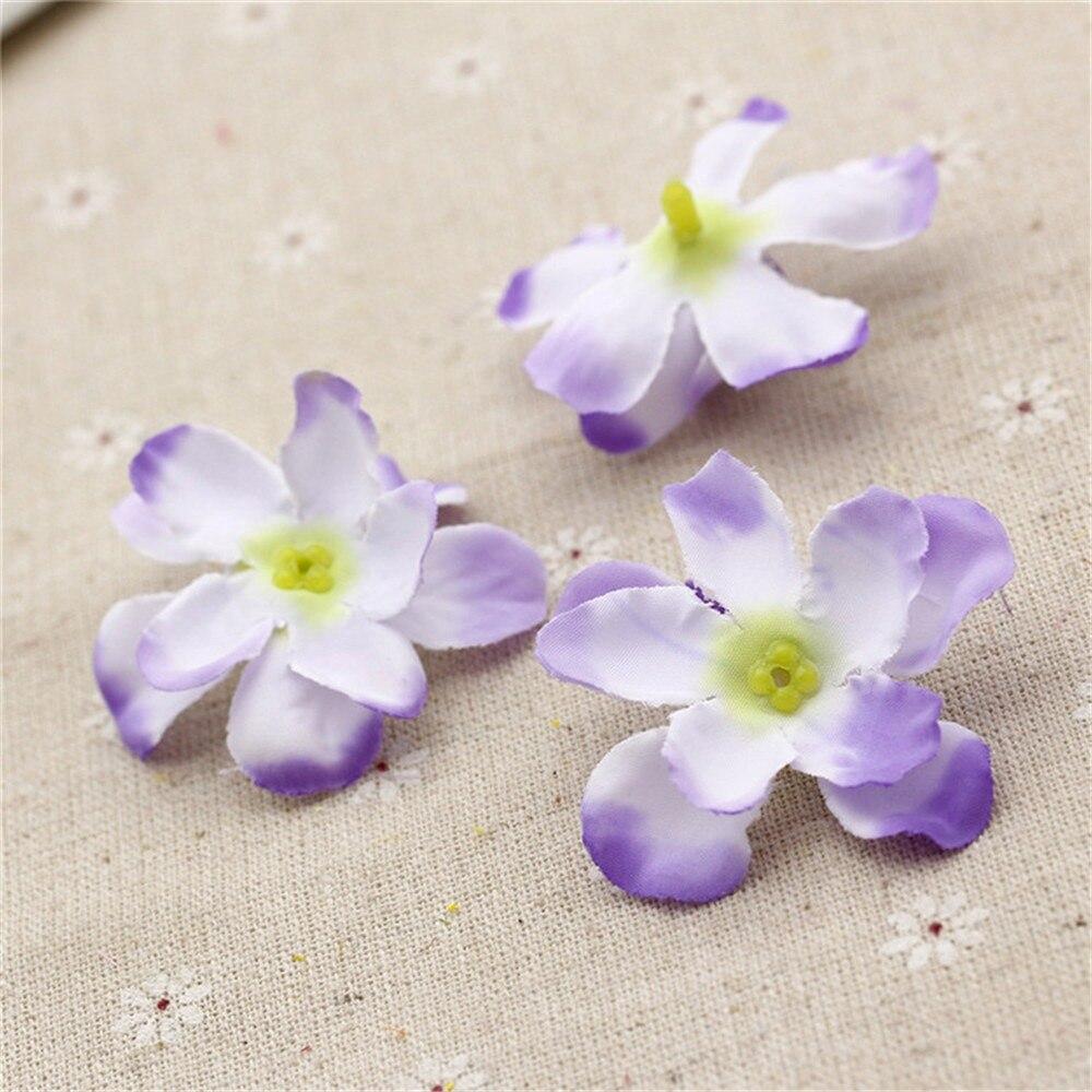 100pcs 5cm Silk High Quality Hydrangea Artificial Flower Wedding