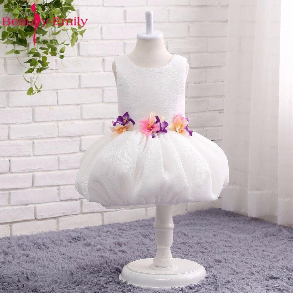 Beauty-Emily White Tulle Flower Girl Dresses 2017 Zipper Ball Gown ...
