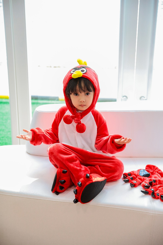 Halloween Children Anime Pajamas Sets Cartoon Sleepwear Boys And Girls Pajamas Flannel Animal Cosplay Pajamas Pary Winter Warm