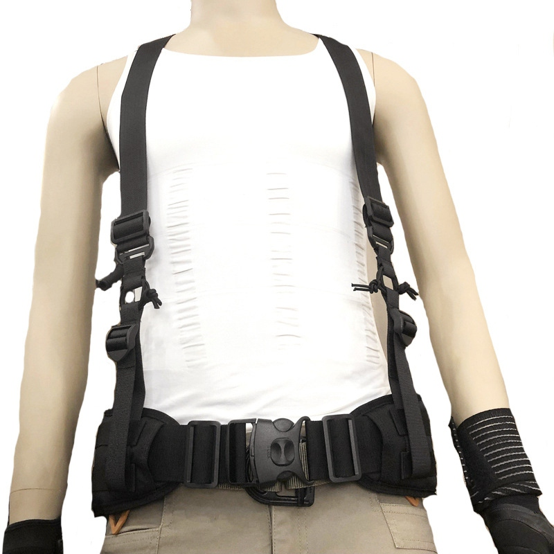 Outdoor X-type Suspenders For Duty Belt Adjustable Multi-function Tactical Duty Belt Harness Combat Belt Strape