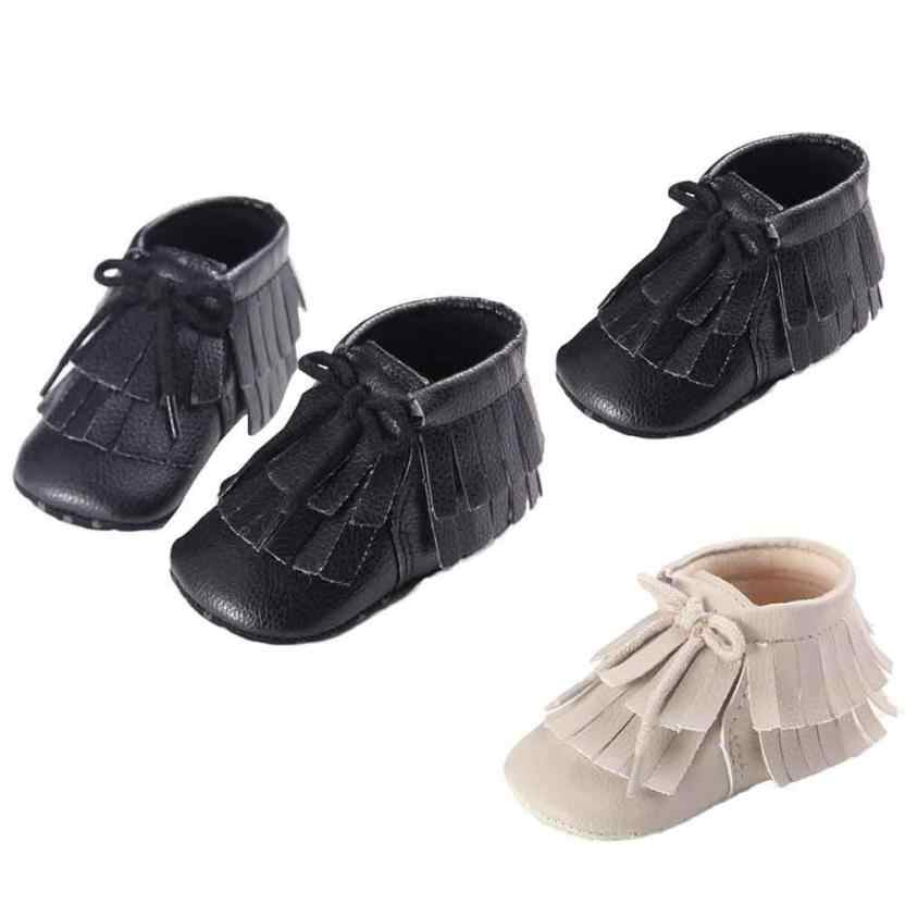 ac52d7fb059 ... New Shine black Leather Baby moccasins First Walkers Soft Rose gold  Baby girl shoes infant Fringe ...