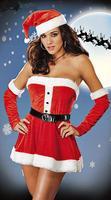 Trajes Sexy Natal Papai Noel Costume Senhorita Santa Natal Cosplay Vestido
