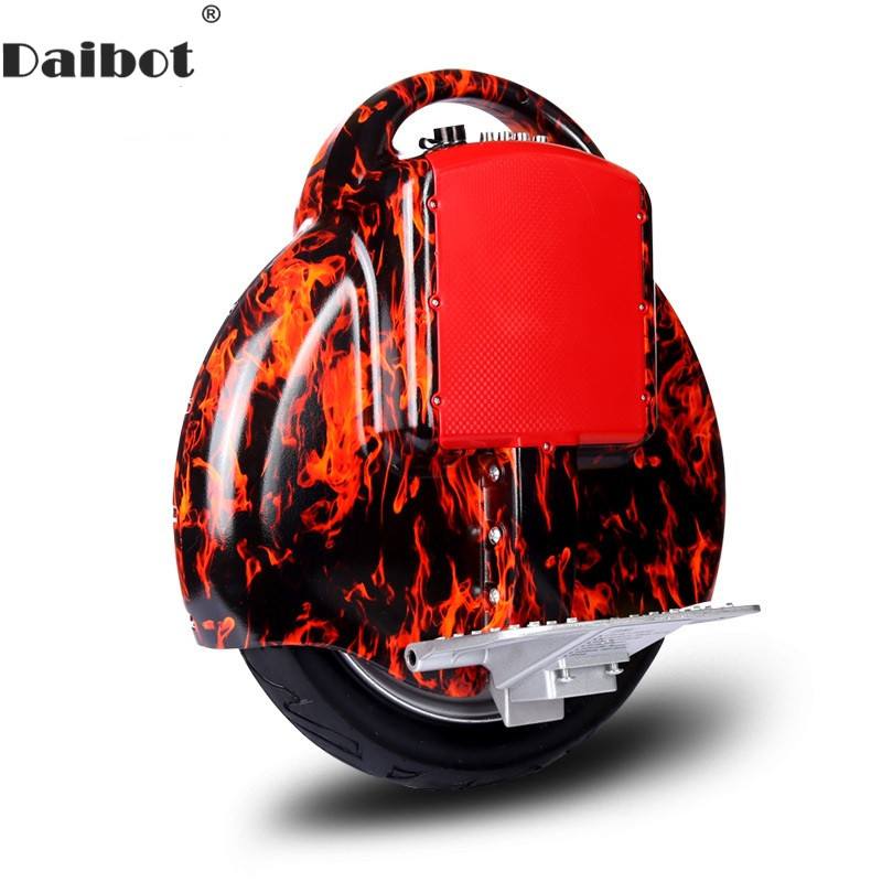 Daibot Electric Monowheel Scooter 14 Inch Self Balancing Scooters Bluetooth Handler 350W 60V Electric Unicycle One For Adults
