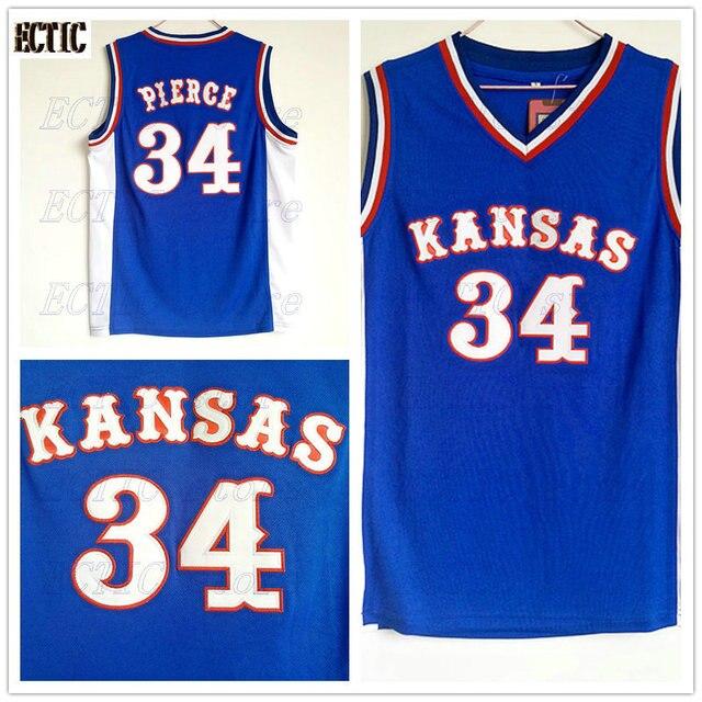 3a3fe9099d5 2018 Mens ECTIC Paul Pierce Jersey Cheap Throwback Basketball Jersey  34 Kansas  Jayhawks KU College Retro Blue Shirts For Men