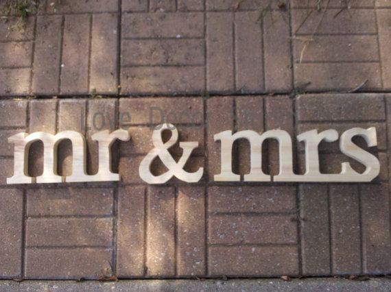 mrmrs lowercase stand alonewedding decoration wooden letters wood sign for sweetheart table