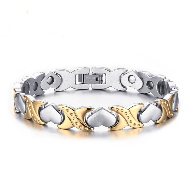 Hot new fashion women's jewelry heart-shaped stainless steel bracelet Ms. bracelet