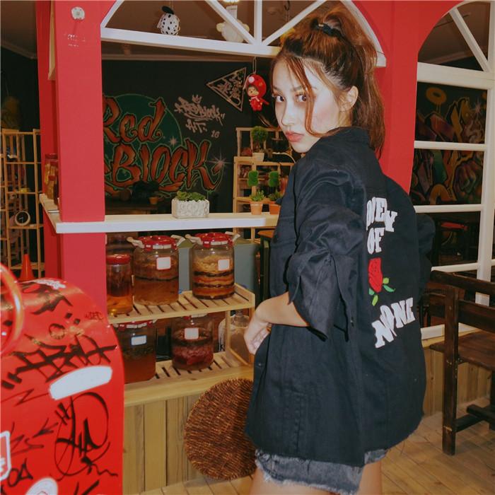 HTB1dRCpNFXXXXayapXXq6xXFXXXJ - property of rose no one embroidery jacket High Heels Suicide rose jukpop 001