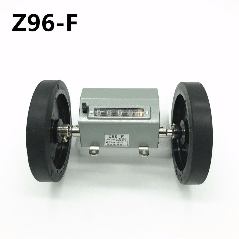 Comprimento de medição da contagem do medidor da maquinaria de matéria têxtil do contador da roda do rolo de 5 dígitos Z96-F