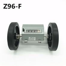 5 ספרות Z96 F גלילה/מתגלגל גלגל דלפק טקסטיל מכונות מטר ספירה מדידת אורך
