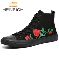 HEINRICH High Top Casual Shoes Men Sneakers Men 2018 Fashion Ankle Boots Men Luxury Brand High Top Shoes Botas Masculina