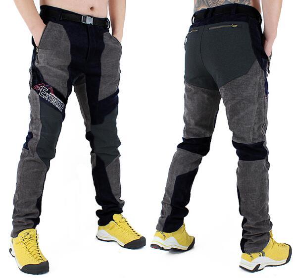 Automne hiver hommes slim randonnée pantalon plein air Softshell pantalon coupe-vent polaire thermique Camping ski escalade sportswear