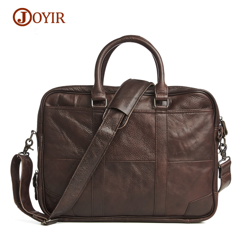 JOYIR Briefcase Genuine Leather Men Handbags Crossbody Bags Large Capacity Zipper Laptop Bag Male Tote Men Messenger Briefcases men genuine leather bag messenger bag man crossbody large shoulder bag business tote briefcase brand handbags laptop briefcase