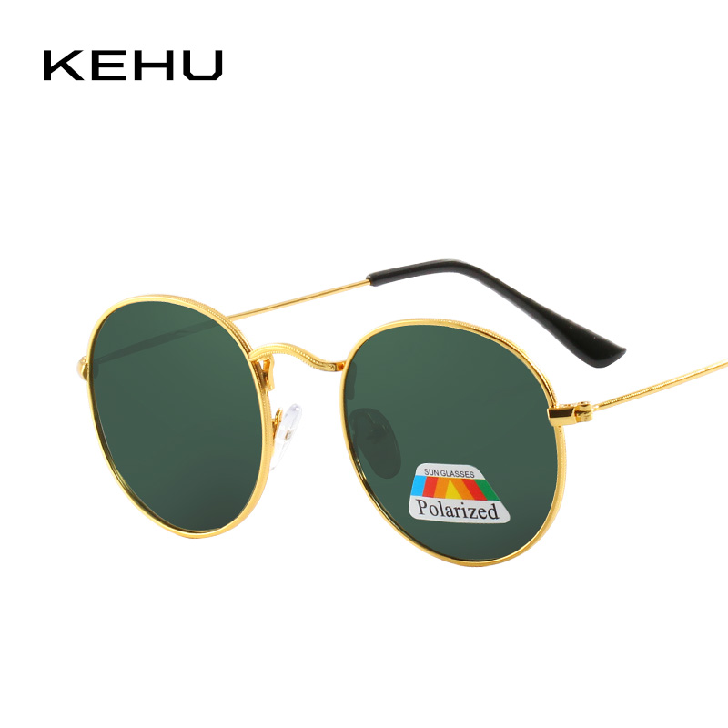 KEHU Neue Frauen Retro Runde Legierung Rahmen Sonnenbrille Marke ...