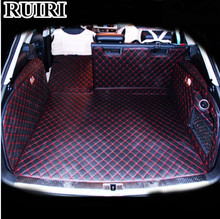 Top quality! Full set car trunk mats for Audi A4 allroad B8 2015-2008 durable cargo liner boot carpets for A4 2012,Free shipping