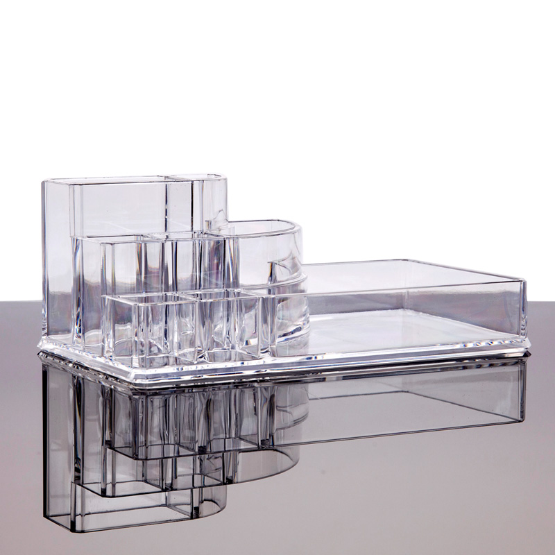 Display Lipstick Holder Acrylic Cosmetic Organizer Stand Clear