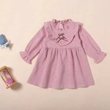 Baby Girl Long Sleeve Dresses 2019 Spring Autumn Bow Princess Party Kids Dresses For Girls Clothes Infant Cute Pink Dress