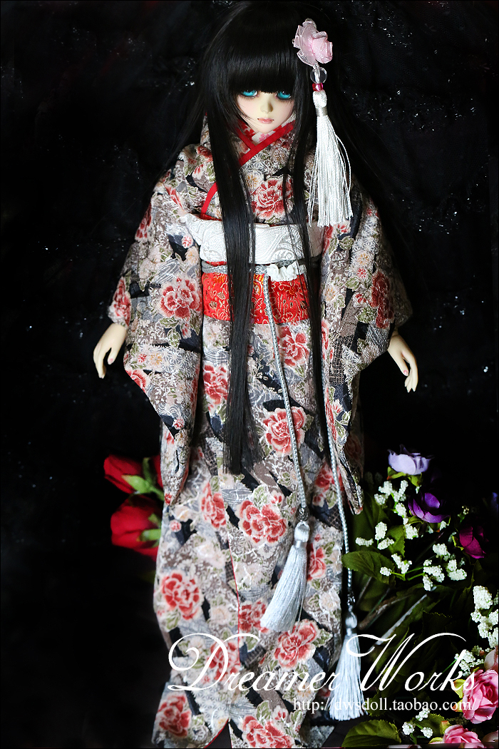 1/4 1/3 scale BJD Japanese Yukata Kimono suit for BJD/SD clothing doll accessories,Not included doll,shoes,wig and other 18D1293-in Dolls Accessories from Toys & Hobbies    1