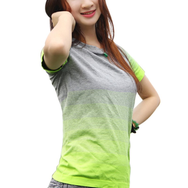 Women Quick-drying T-shirt Casual Short Sleeved Tops LM75