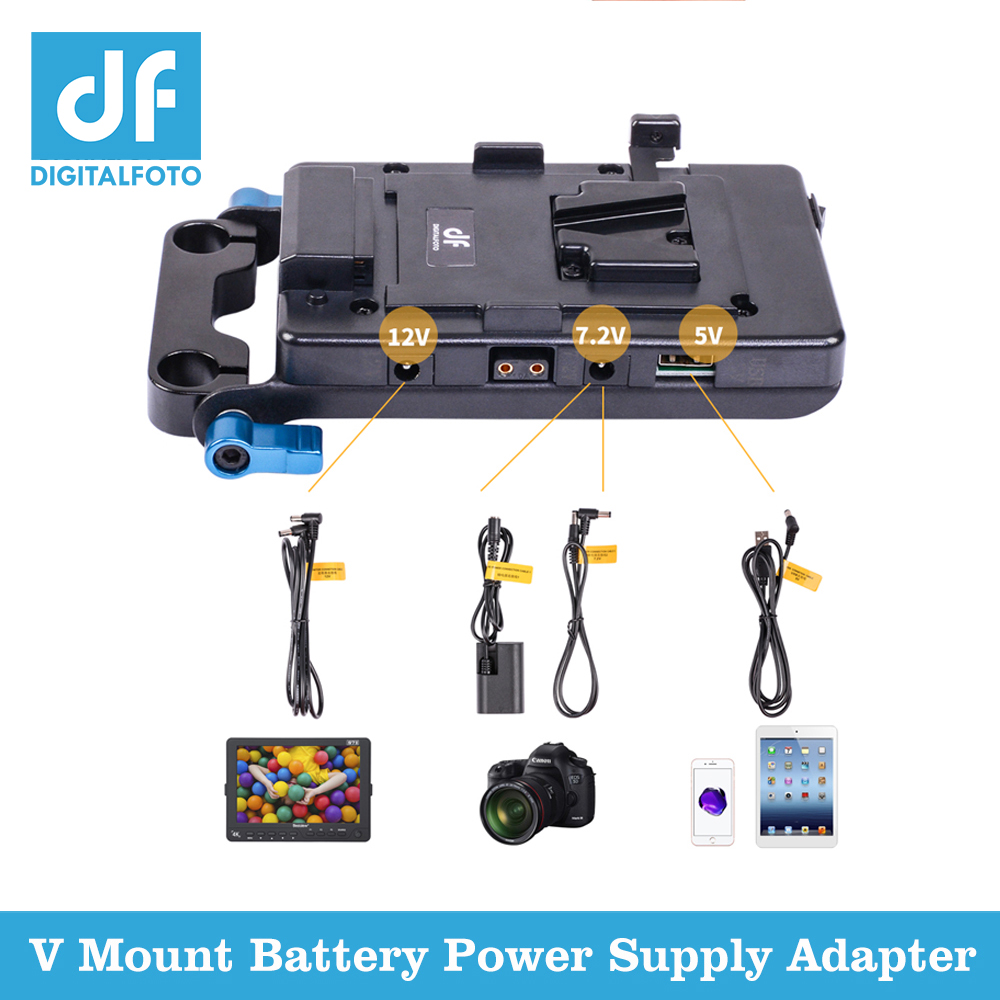 Power supply system with USB port dslr v mount battery power adapter v lock camera video battery plate for DSLR Canon Sony Nikon a gp s anton bauer gold mount for sony idx eng v mount dv hdv battery converter adapter plate a gp s for panasonic jvc video