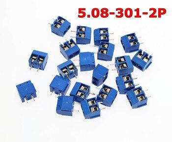 Envío Gratis 5.08-301-2P 301-2P 100 Uds 2 Terminal de tornillo del perno conector de bloque de mm, paso de 5mm