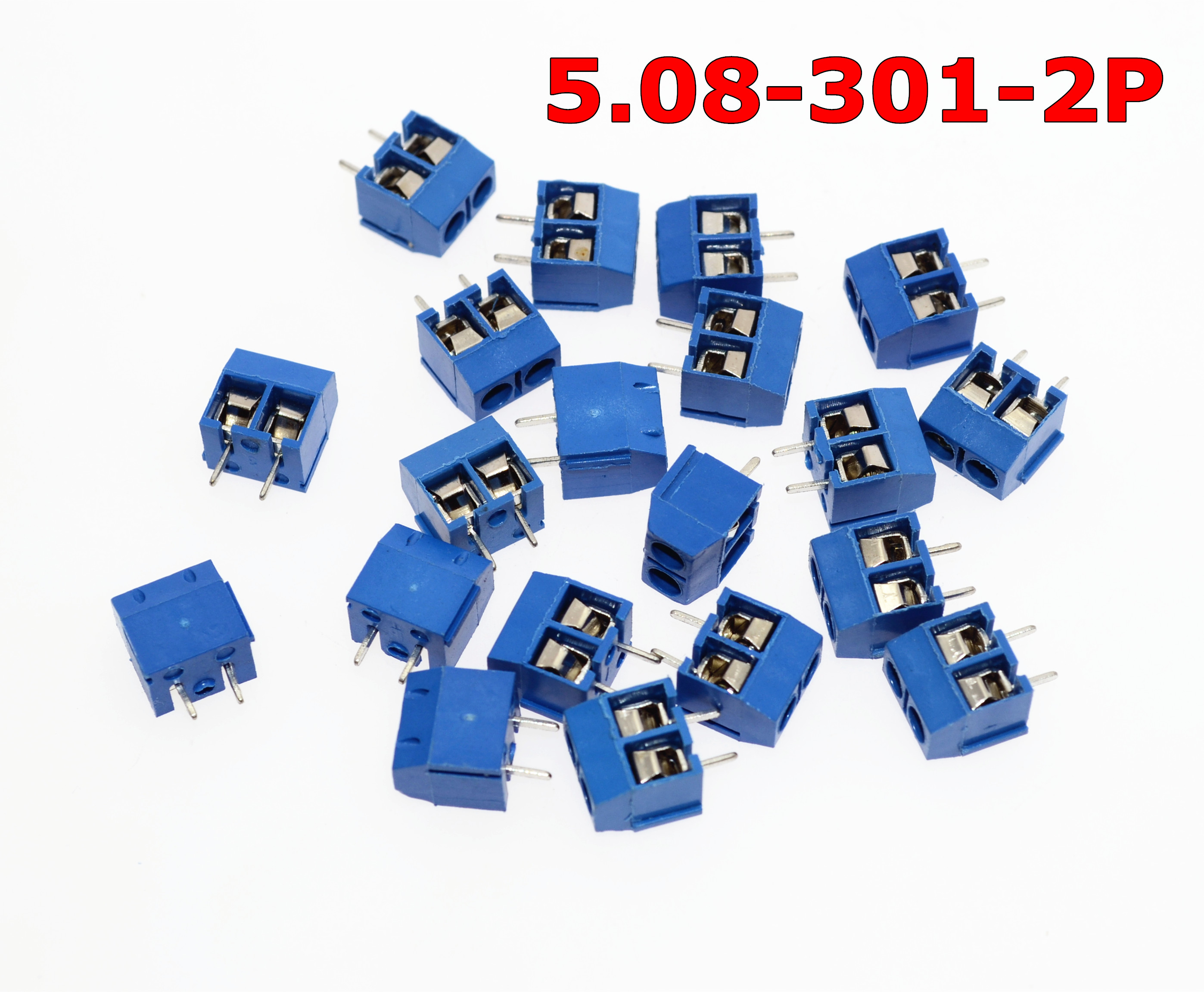 Free Shipping 5.08-301-2P 301-2P 100PCS 2 Pin Screw Terminal Block Connector 5mm PitchFree Shipping 5.08-301-2P 301-2P 100PCS 2 Pin Screw Terminal Block Connector 5mm Pitch