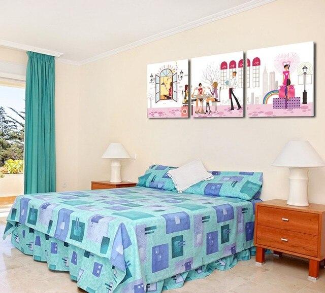 Venta caliente Nuevo Diseño 3 Unidades Wall Art Pictures Para La ...