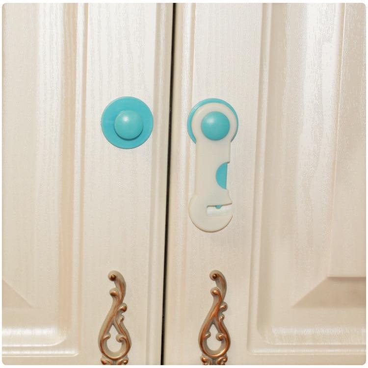 Plastic Baby Safety Lock Door Drawers Wardrobe Toddler Kids Safety Cover Closet Door Latch