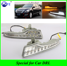 For Nissan Teana Altima 2013 2014 2015 Daylight Car LED DRL Daytime Running Lights with turn signal Fog head Lamp car styling(China)