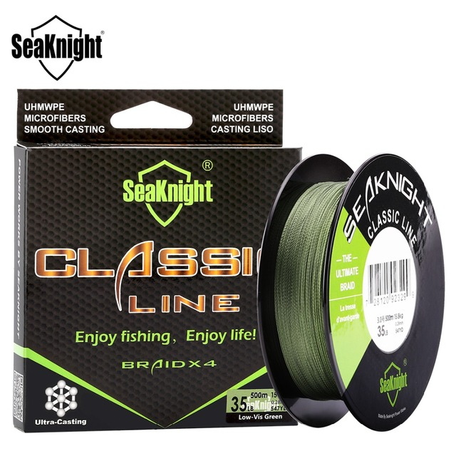 SeaKnight CLASSIC Line 300M 500M Braided Multifilament PE Fishing Line 6 8 10 20 30 40 80LB 4 Strands Saltwater Fishing Tackle