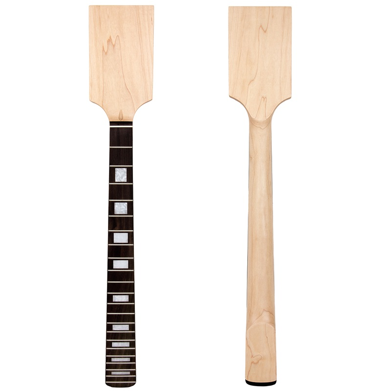 Kmise Paddle guitare cou érable palissandre droit gaucher bloc incrustation inachevé