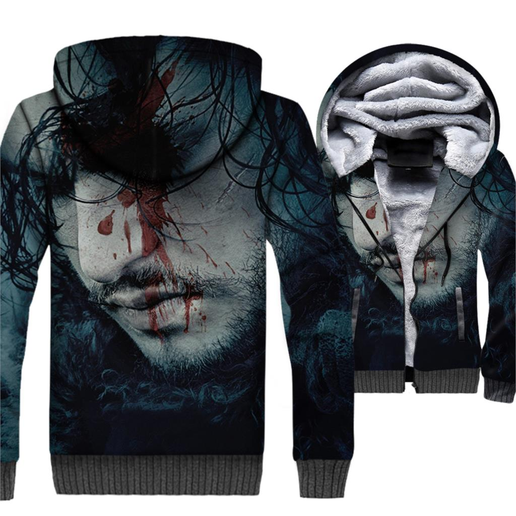 WINTER IS COMING Sweatshirt For Men 2018 New Fashion 3D Pattern Hooded Hoddies Stark House Game Of Thrones Harajuku Men's Hoodie