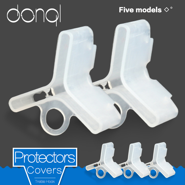 DONQL 25 50Pcs/Lot Fishing Hook Cover Caps Treble Hook Sleeves Protectors for Fishing Lure Plastic Safety Case Covers
